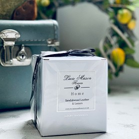 Luxury fragranced candle Sandalwood, Leather and Lemon